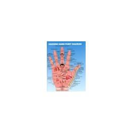 Juego 2 láminas Reflexología de las Manos (plastificada) DINA3